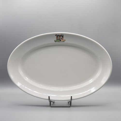 plat ovale de service personnalisé